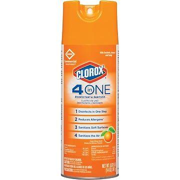 Clorox Clo 02174 Bleach Free Hand Sanitizer 2 0 Fl Oz 4 Pack