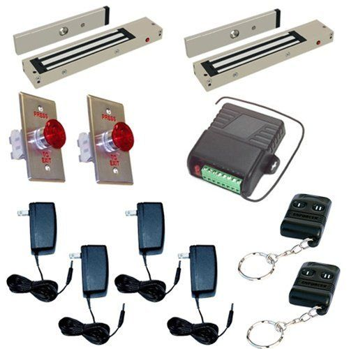 2 Ch Electromagnetic Door Lock 1200lb With Wireless Remote Kit By Esm 267 86 2 Ch Electromagnetic Door Lo Magnetic Lock Electromagnetic Lock Office Building