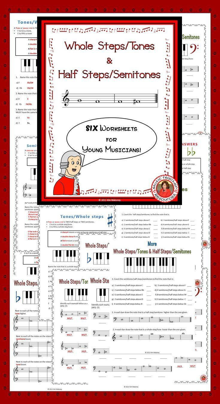 worksheet Line Design Worksheet Six music theory worksheets whole stepstones and half stepssemitones stepssemitones