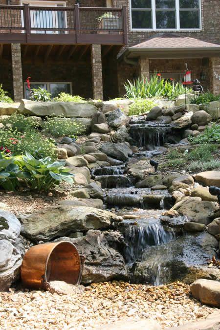 Diy Backyard Creek Waterfalls Backyard Water Features In The Garden Outdoor Water Features