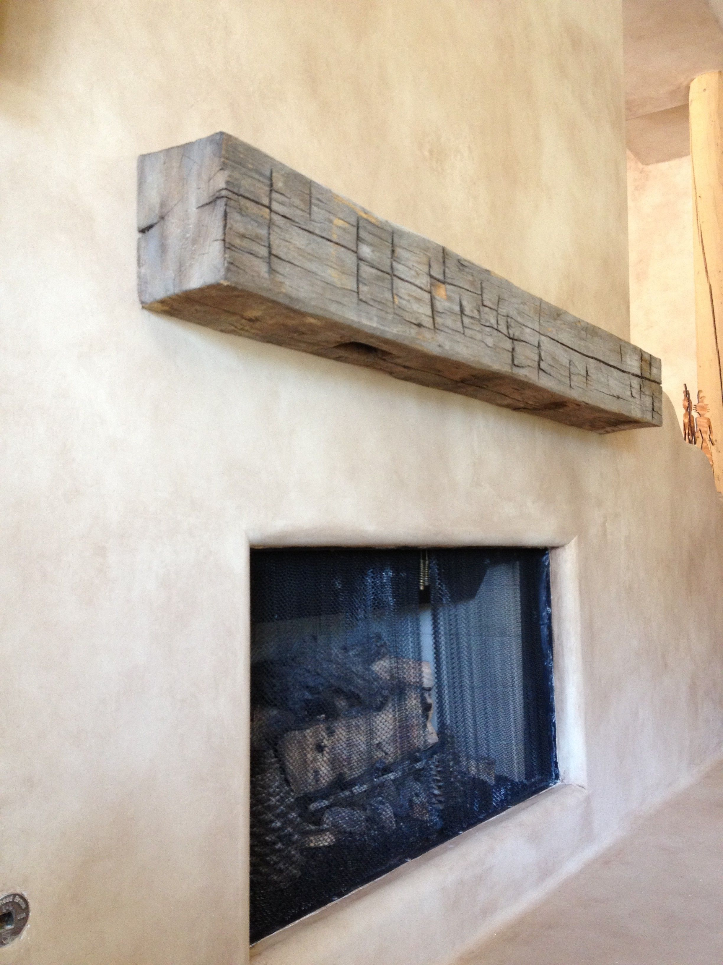 Reclaimed Beam Floating Mantel Porter Barn Wood Reclaimed Beams Wood Fireplace Mantel Wood Mantle Fireplace