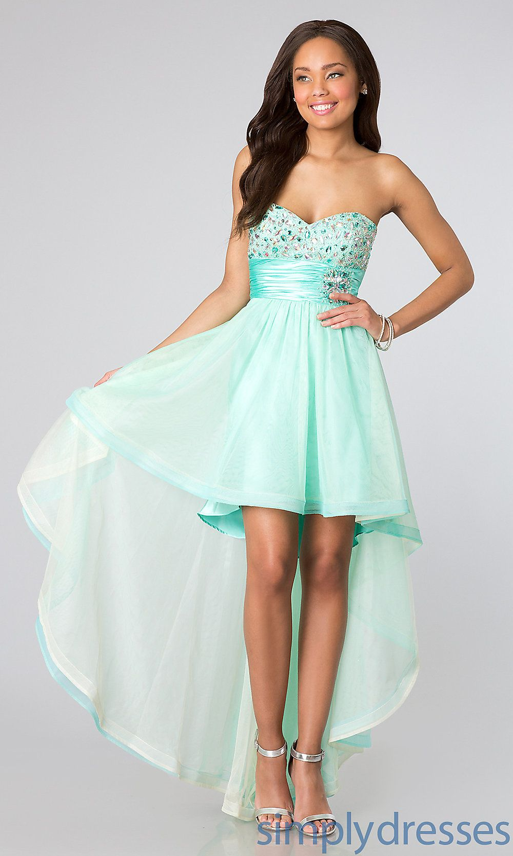 Bee Darlin Strapless High Low Party Dress -Simply Dresses | High ...
