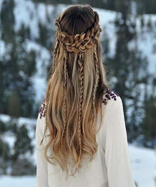 Multiple Braided Long Hairstyles For Girls 2017 Chunk Of Styes Cool Hairstyles Hairstyle Winter Hairstyles