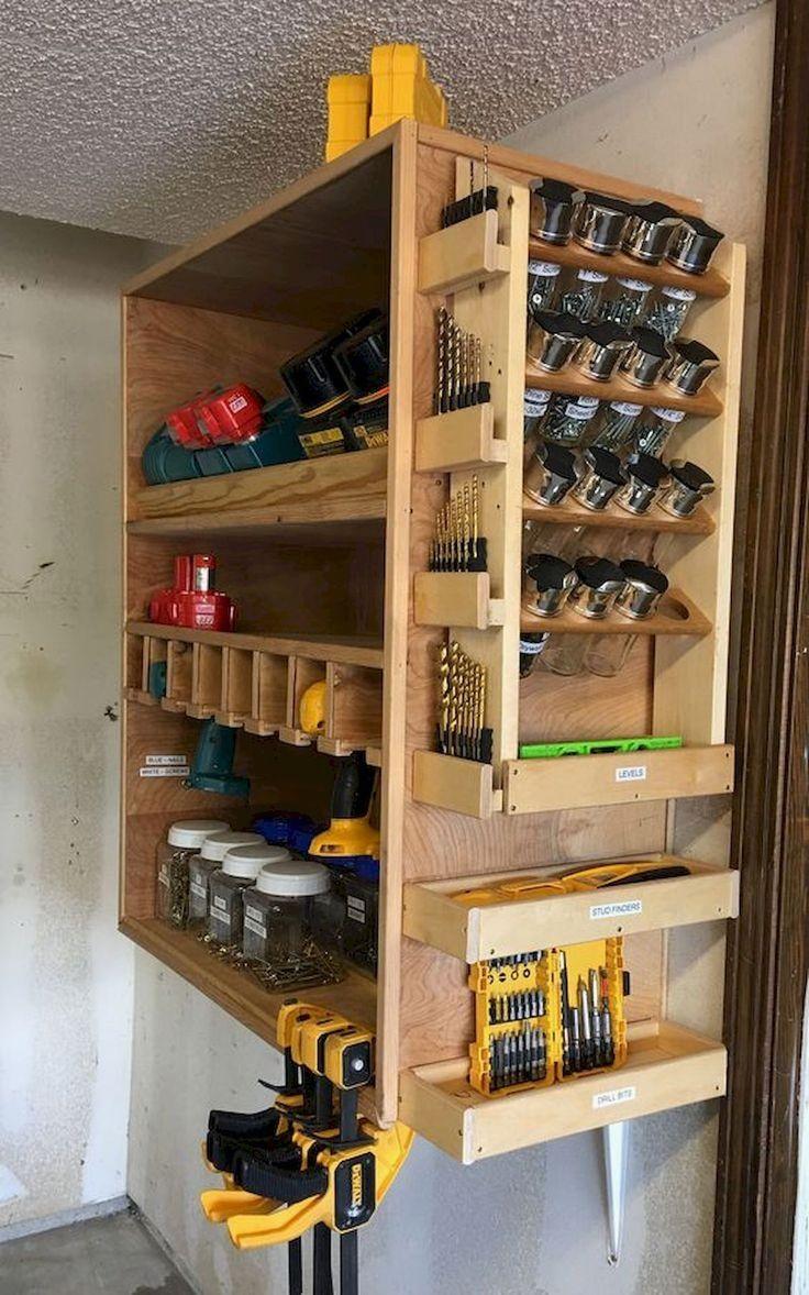 16 Diy Garage Storage Ideas For Neat Garages Rangement Outils Rangement Outil Atelier Rangement Outil Garage