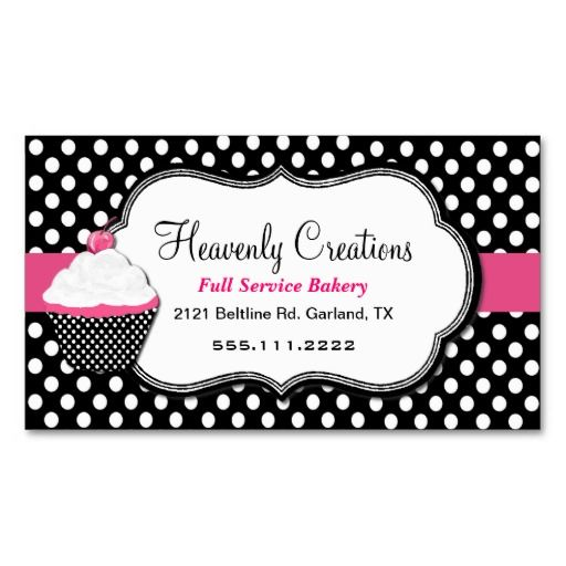 Fun polka dot and cupcake bakery business card bakery business fun polka dot and cupcake bakery business card accmission Gallery
