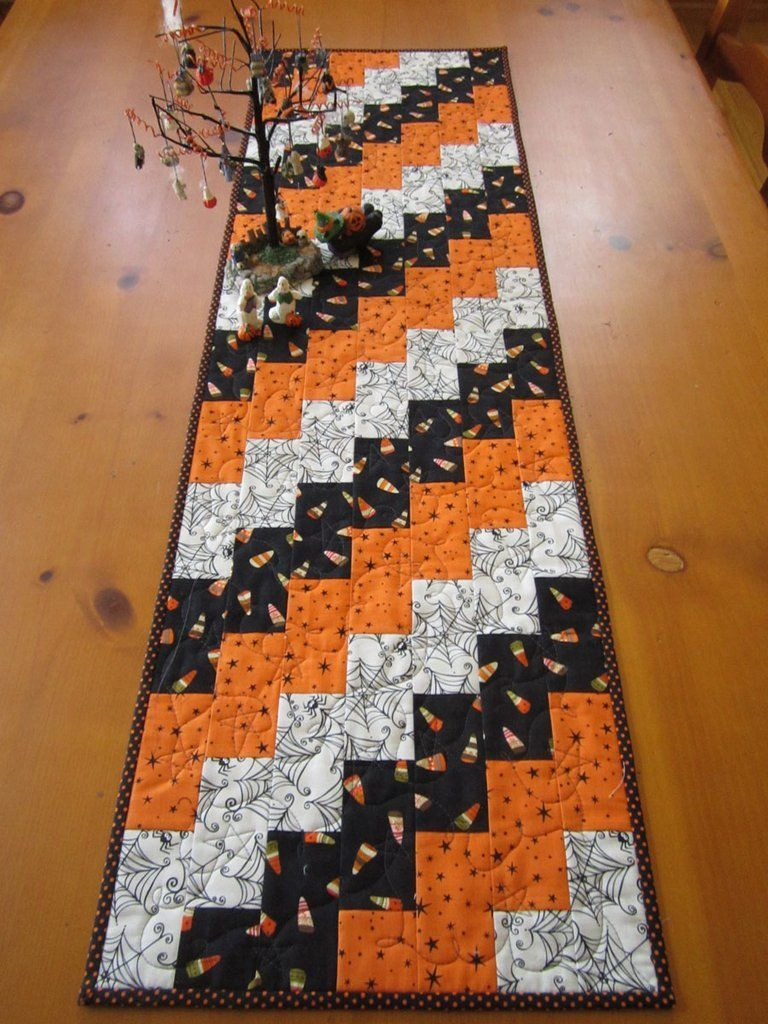 Halloween Quilted Table Runner Decor