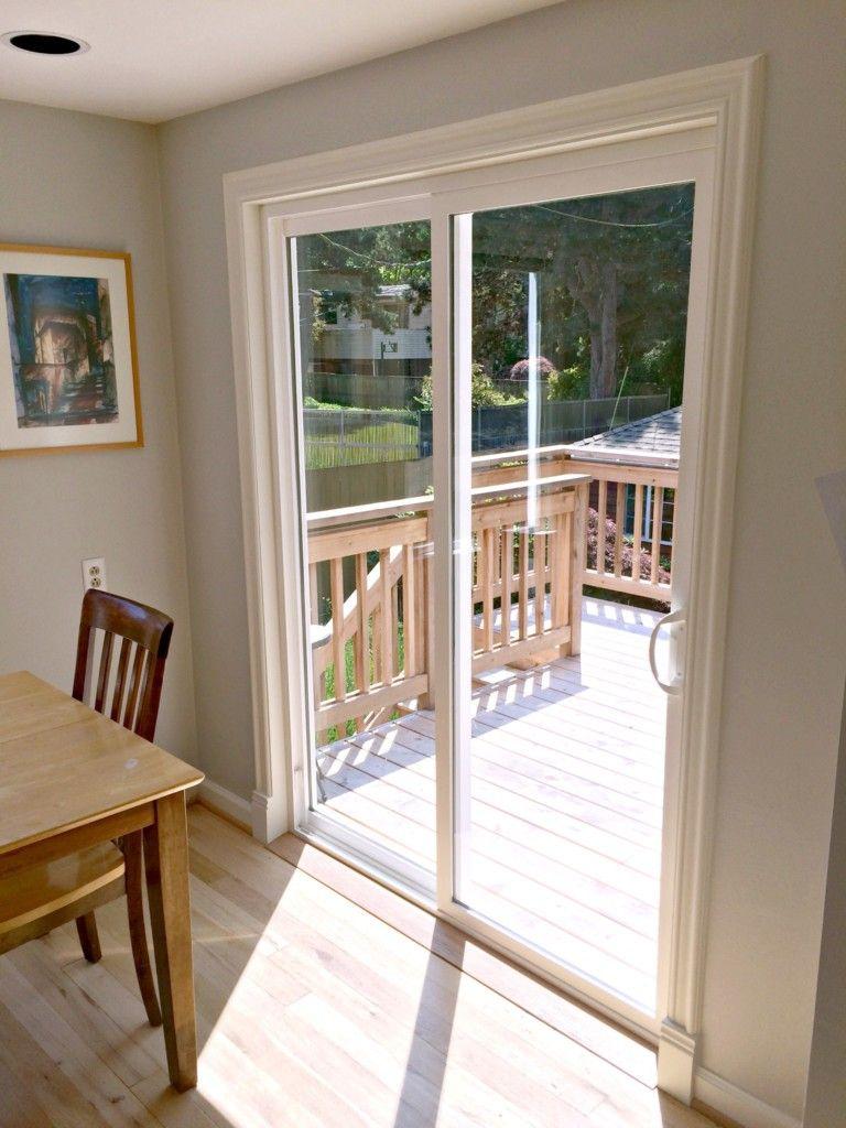 Add A Plinth Block To Door Trim For A Finished Look Sliding Doors Interior Sliding Patio Doors Patio Doors