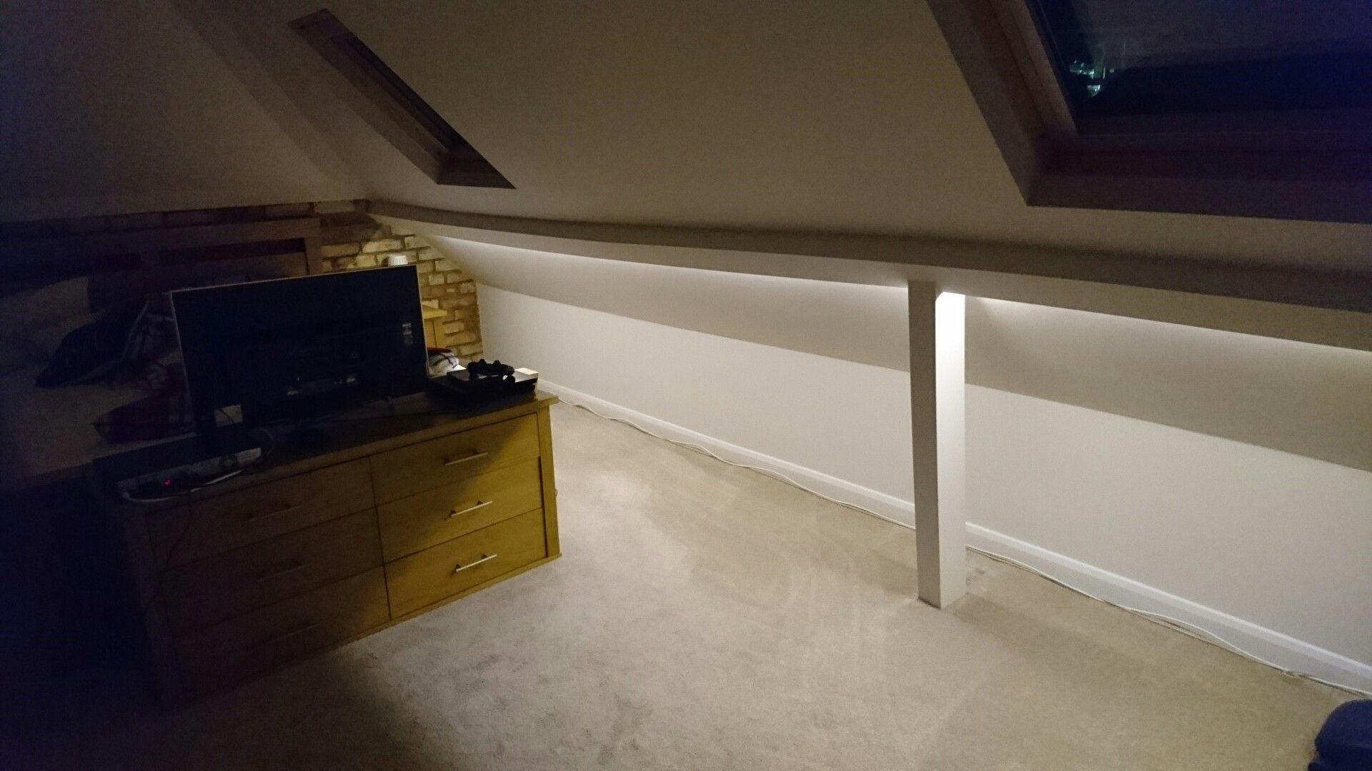 reputable site 56d63 b6b2c LED strip lighting in a loft room #BeamLighting #LED   LED ...