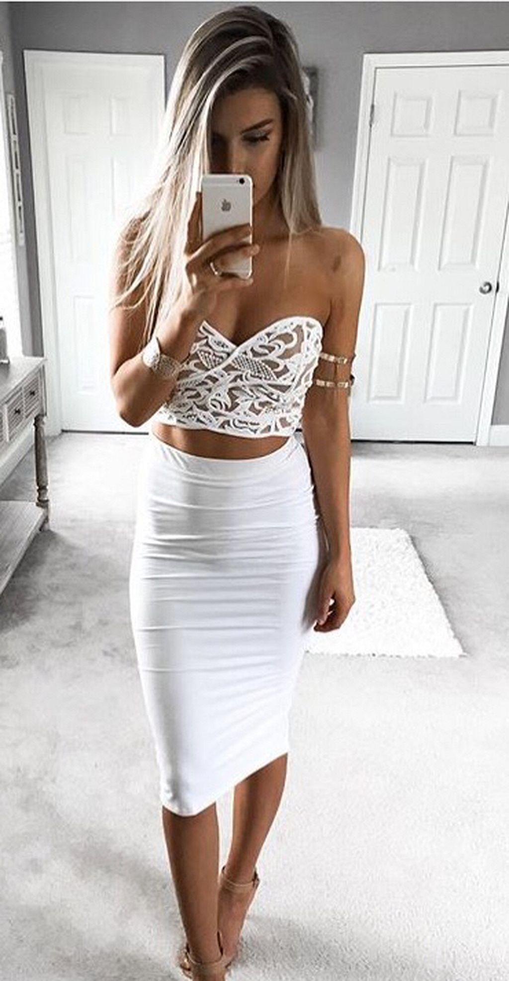 Gorgeous 50+ Pretty White Bachelorette Party Outfit Ideas https ...