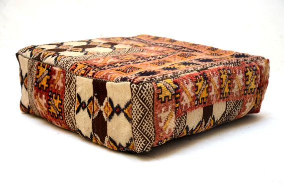 24x24 Moroccan Cushion KILIM PILLOW COVER by Beniouraincarpets