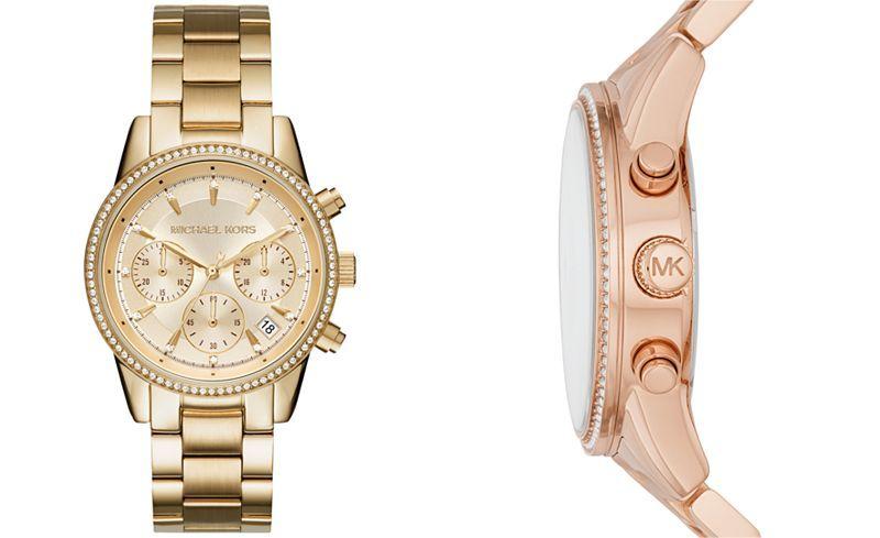 94b37a996 Michael Kors Women's Chronograph Ritz Stainless Steel Bracelet Watch 37mm  MK6428/MK6357/MK6356 - Watches - Jewelry & Watches - Macy's