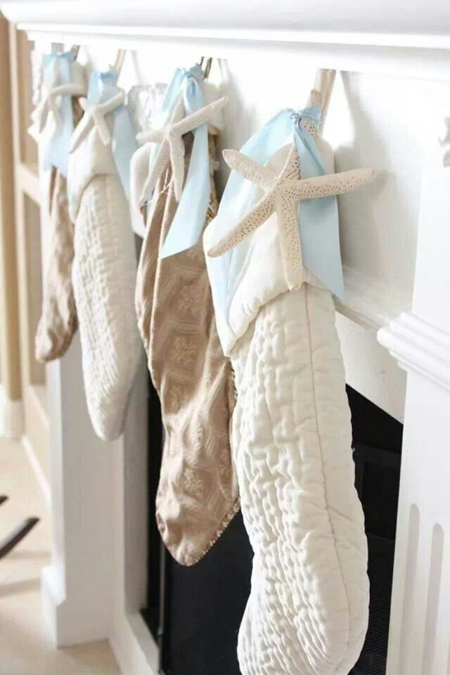 coastal christmas stockings for our beach christmas vaycays more - Coastal Christmas Stockings