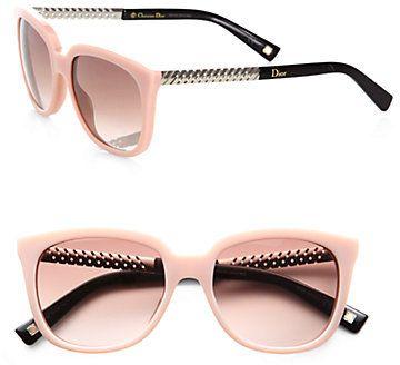 c708958549 Christian Dior Braided Oversized Square Acetate Sunglasses on shopstyle.com