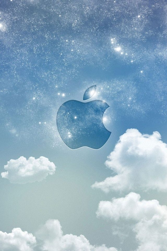 Apple Logo Screen Apple In The Sky Fond D Ecran Iphone Pastel Logo Apple Fond D Ecran De Pomme