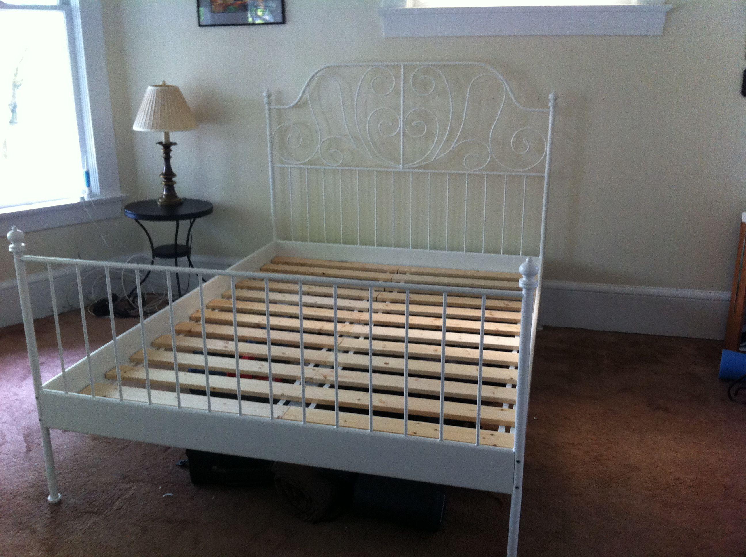 Ikea Leirvik Slatted Bed Frame White 120 Was 220 New