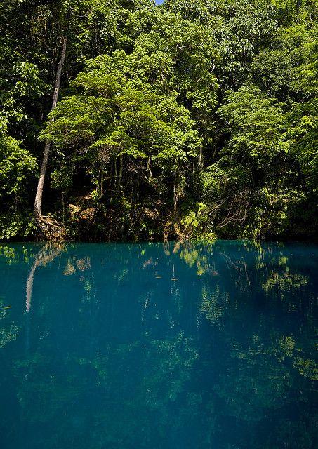Blue hole, Santo island, Vanuatu by Eric Lafforgue, via Flickr