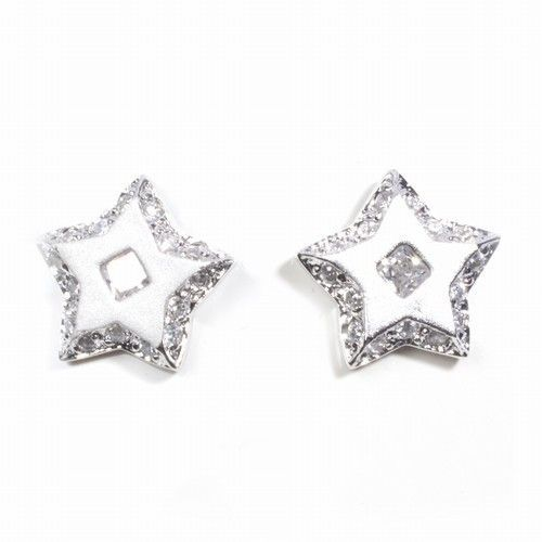Silver Earrings w/ CZ