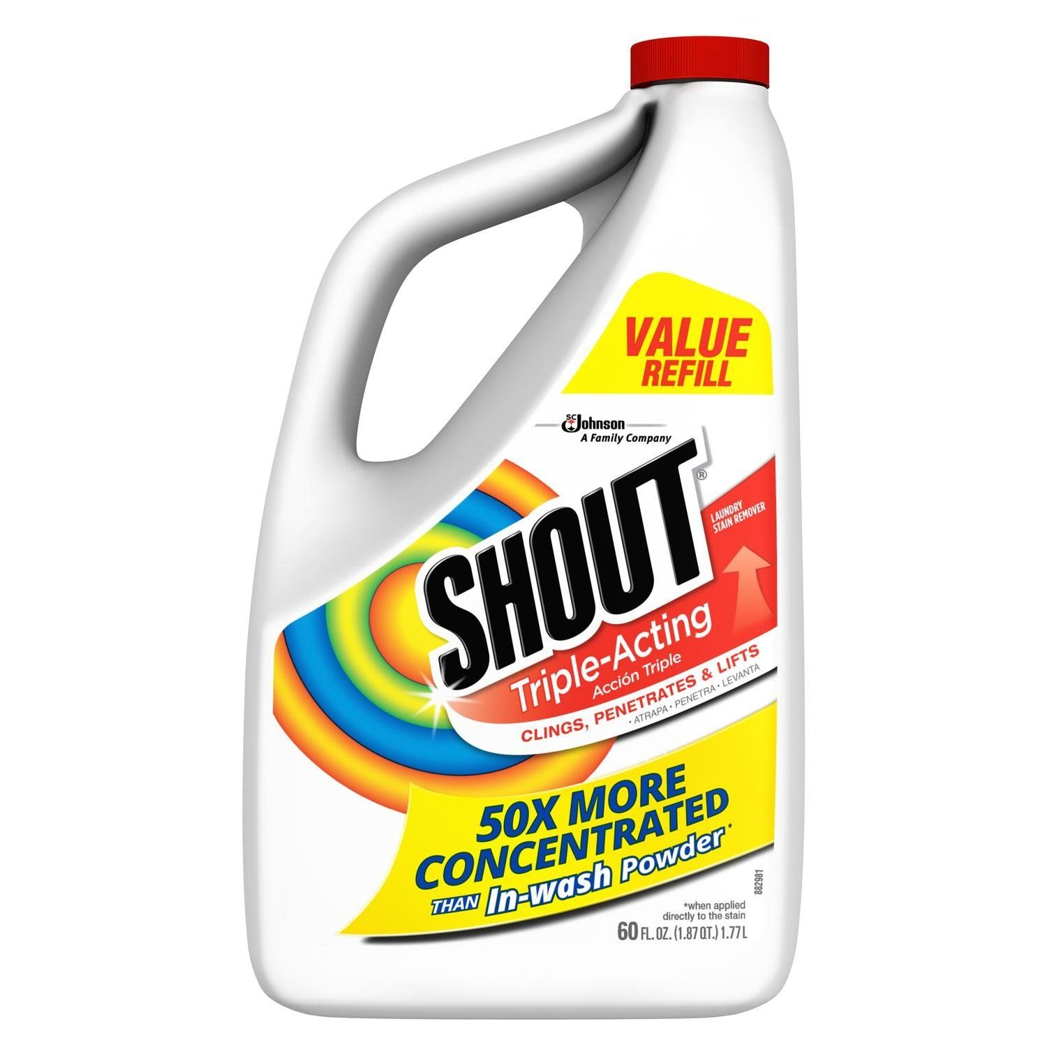 Shout 02274 Laundry Stain Remover 60 Oz Laundry Stain Remover