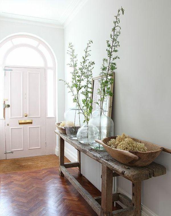 flur einrichten originelle ideen rustikaler stil | Wood ...
