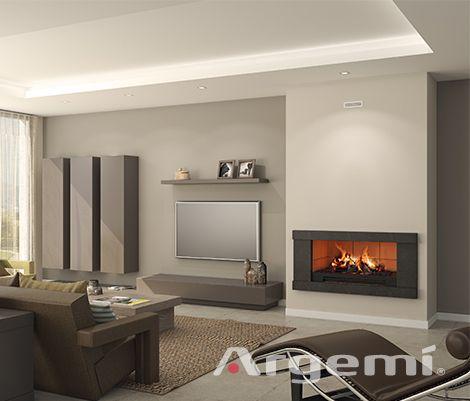 CADÍ chimenea moderna Argemi Prefabricats Ideas Piso Pinterest - chimeneas modernas