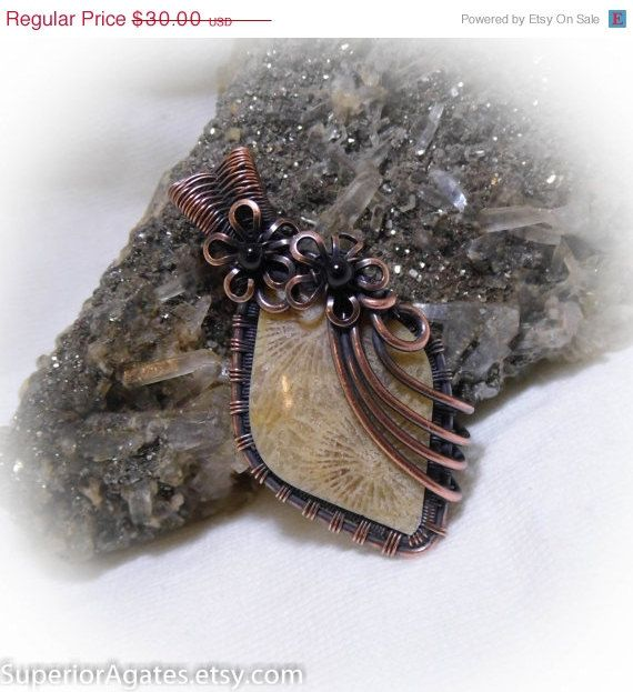 Valentines Day SALE Antique Copper Wire Wrapped by superioragates