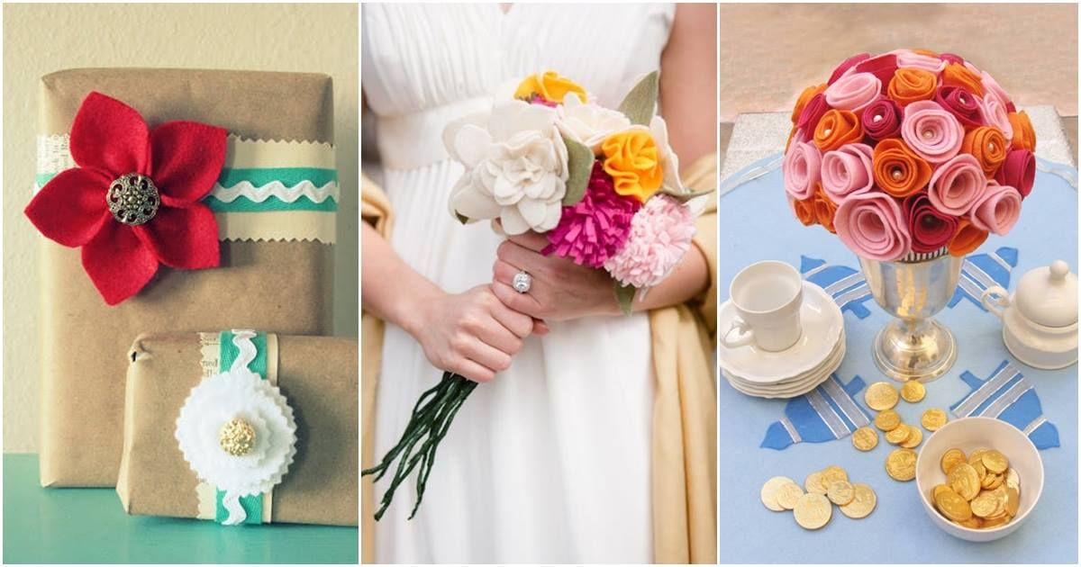 50 Beautiful DIY Felt Flower Craft Ideas