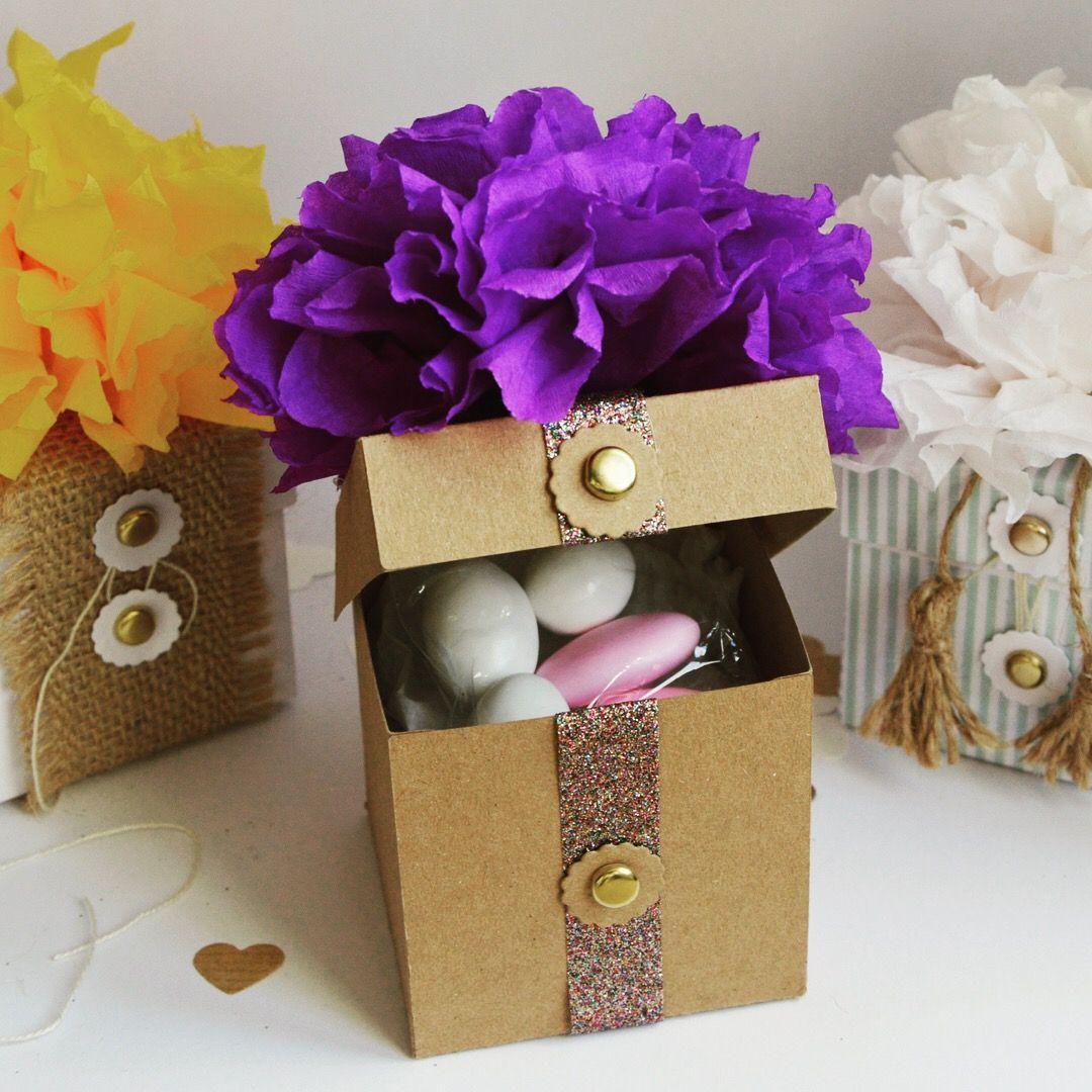 Scatola flower box, bomboniera, segnaposto, porta confetti ...
