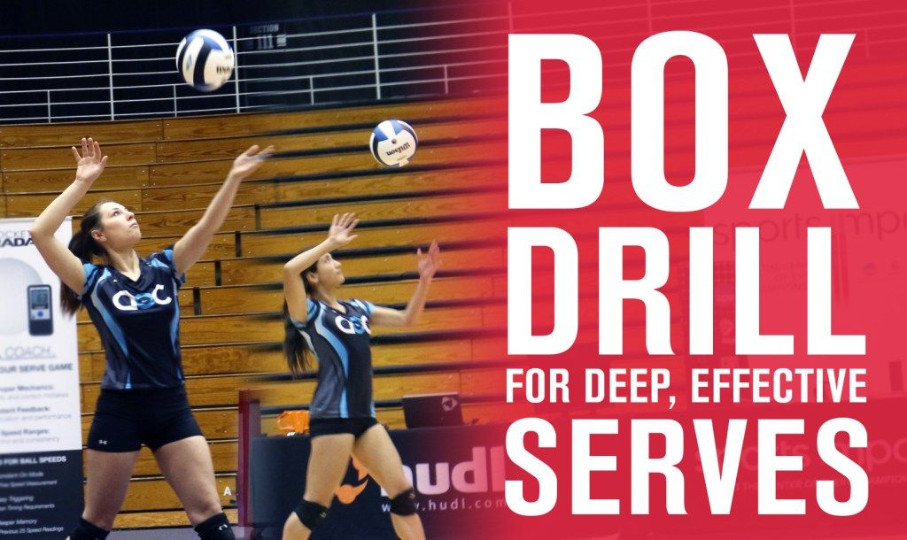 Box Drill For Deep Effective Serves The Art Of Coaching Volleyball Coaching Volleyball Volleyball Practice Volleyball Serving Drills