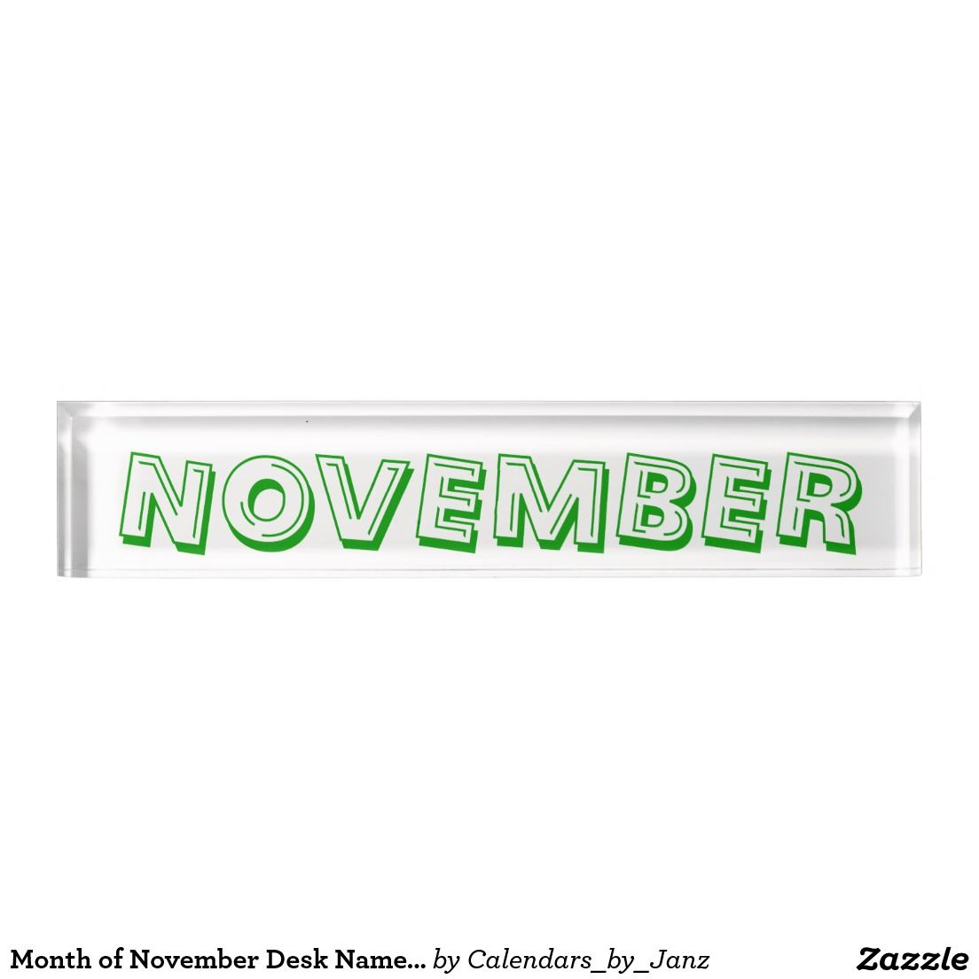 Month of November Desk Nameplate by Janz