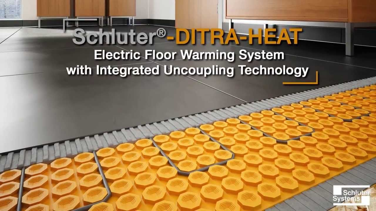 Schluter Ditra Heat Electric Floor Warming System With Integrated Coupling Technology Floor Heating Systems Heating Systems Heated Tile Floor