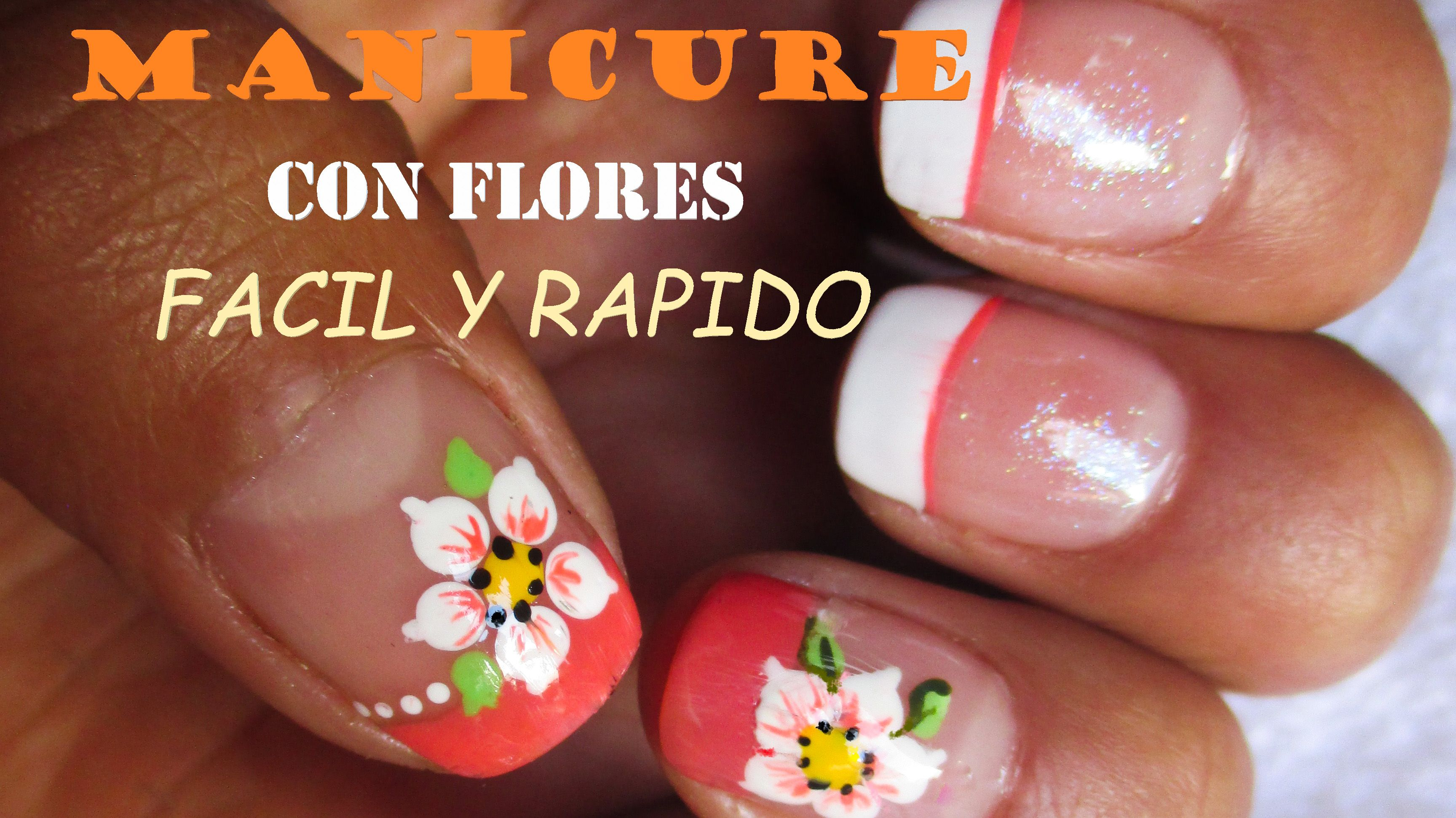 Diseño Para Uñas Con Flores Muy Bonito Y Super Facil De