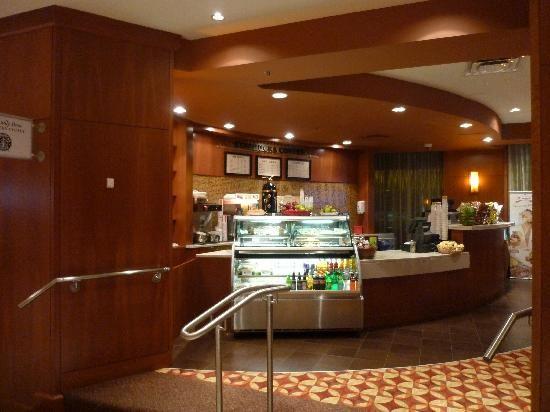Hilton Boston Back Bay Ma Hotel Reviews Tripadvisor Starbucks Cafe Located