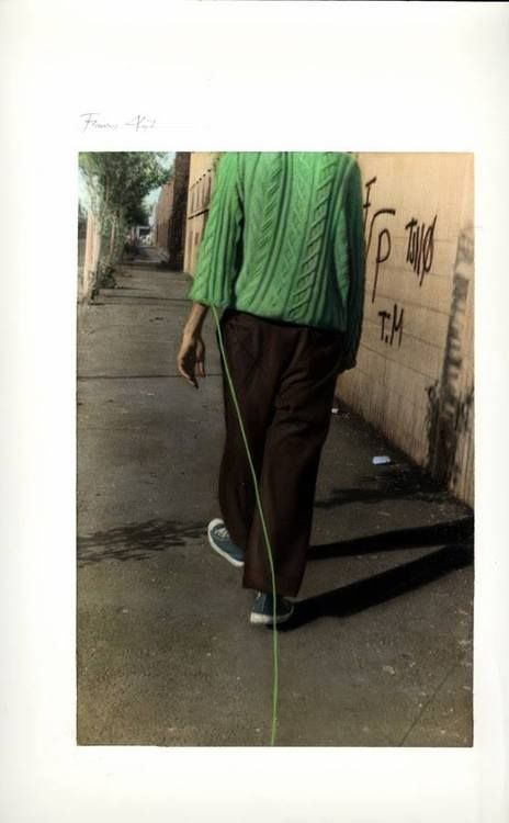 Francis Alÿs, Untitled (The Looser / The Winner), 2006. Retouched photography (b/w photography colored by hand).59.2 x 50.3 cm, framed