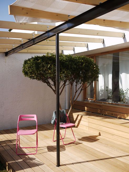Articles About Nhr Apartment Gut Gut On Dwell Com Pergola Patio Indoor Outdoor Living