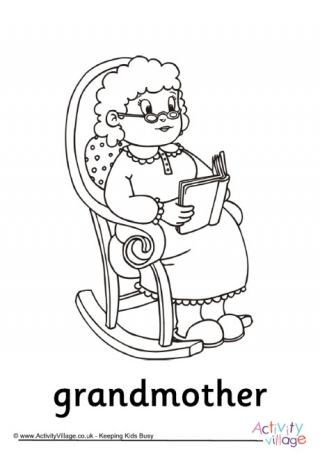 free birthday coloring pages grandmother - photo#37