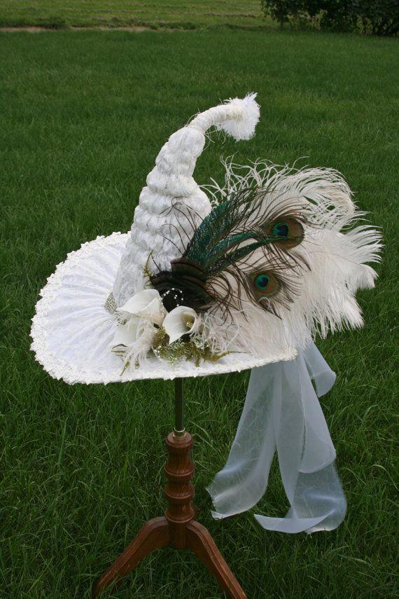 80c1efb1408a5 Custom White Witch Hat for Debbie Balance Due by StudioSisu
