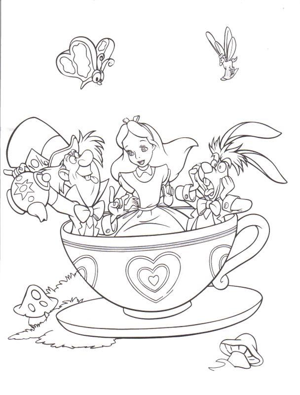 Kleurplaat   dessins à colorié   Pinterest   Alice, Coloring books ...