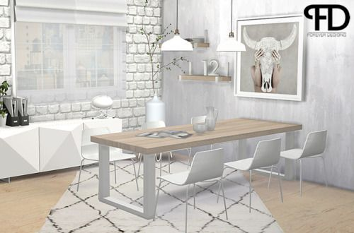 Industrial U Dining Room 1 000 Follower Giftas You May Have Noticed It Was Already A Very Long Time Sims 4 Cc Furniture Dining Room Industrial Sims 4 Kitchen