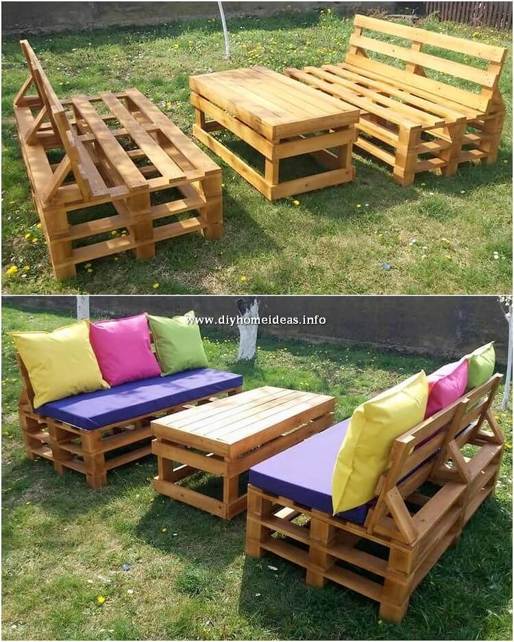 30 Diy Amazing Furniture Ideas With Wood Pallets Wood Pallets Diy Pallet Projects Pallet Projects Garden