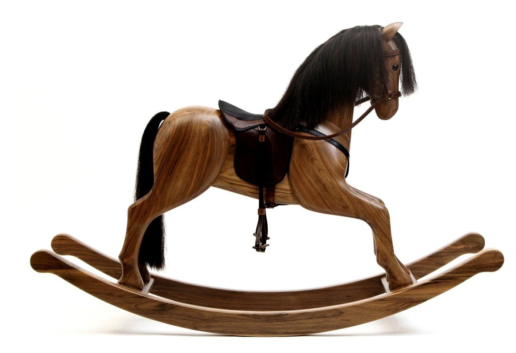 Horse Toys For Boys : Premium rocking horse walnut wohnstuecke helidos