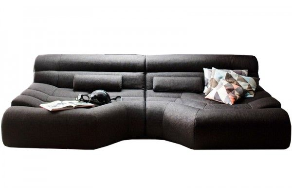 xxl sofa big sofa wohnlandschaft stoff grau mit kissen tara 82331193 ideen wohnung sofa. Black Bedroom Furniture Sets. Home Design Ideas