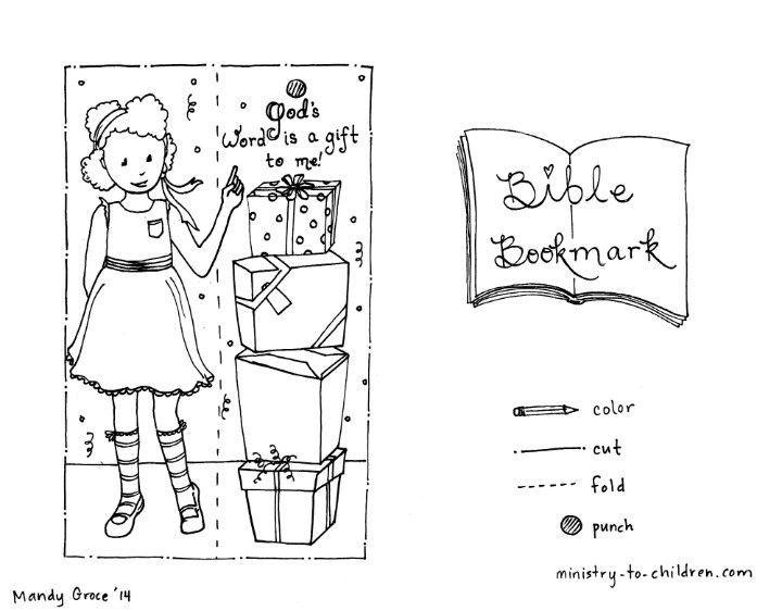 Bible bookmark in 'girl' printable or 'boy' printable