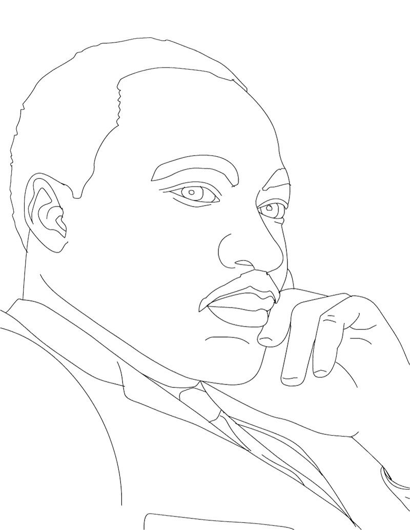 Preschool coloring pages martin luther king - Martin Luther King Daydream Coloring Page