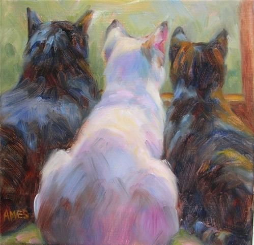 """Bird Watching"" Original Fine Art for Sale © Debra"