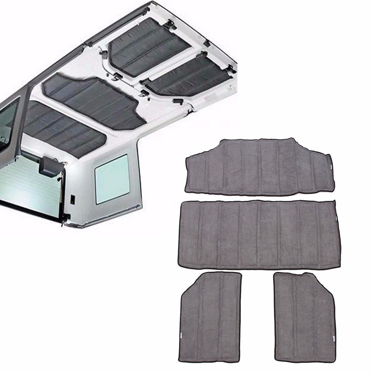 4pcs kit de aislamiento térmicos y de techo duro 2011-2016 jeep