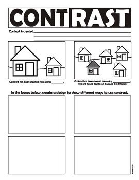 Worksheet Principles Of Design Worksheet art elements colors and colour contrast on pinterest