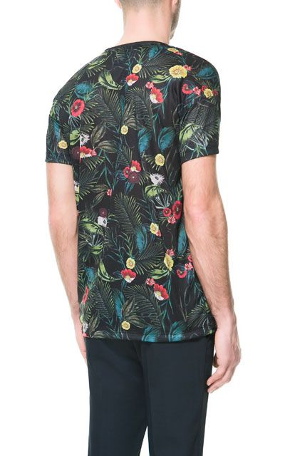 T - SHIRT À FLEURS - T - shirts - Homme   ZARA France  Tendance  Tropical   Boy  Man  Trend  Mode  Fashion 2cf478495e64