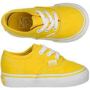 bbdcb90708 Tiny yellow Vans!!!