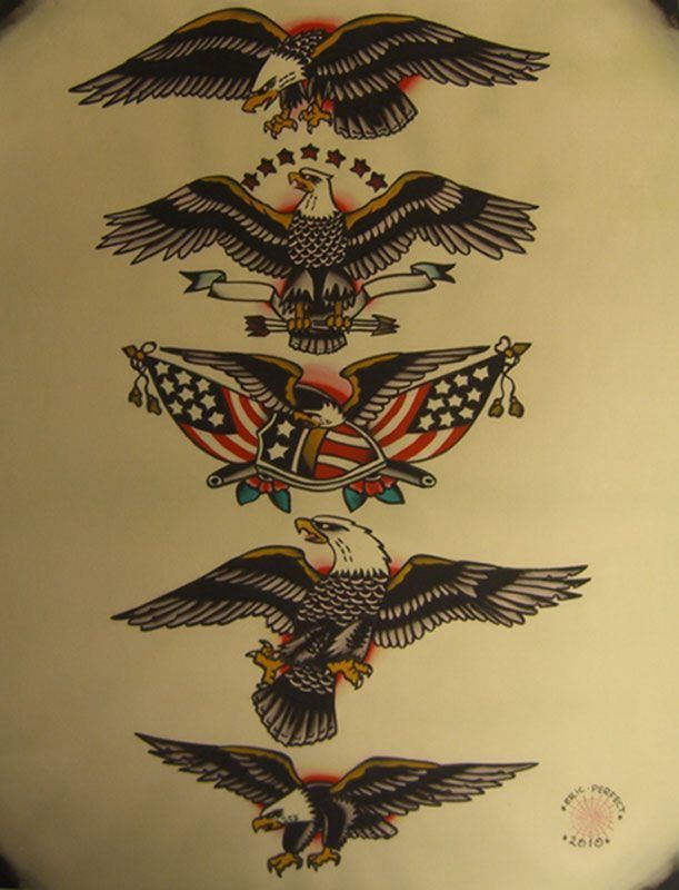 American Traditional Skull And Eagle: Pin By Nikki Rodgers On American Traditional / Tattoos