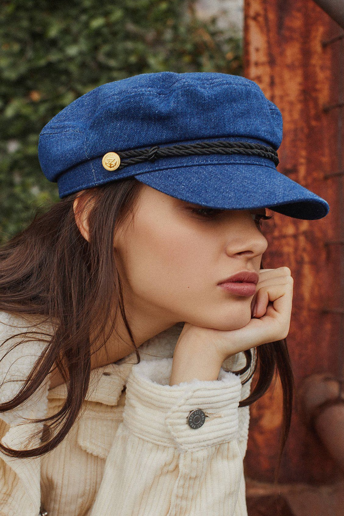 051f302e Denim Captain Hat   Accessorize   Fashion, Hats, Outfits with hats